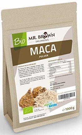Mr. Brown BIO Maca Pulver aus Peru | Premium Qualität | abgefüllt in Deutschland | aus kontrolliert biologischem Anbau | Ohne Zusatzstoffe & Ohne Konservierungsmittel (1000 GR) - 1