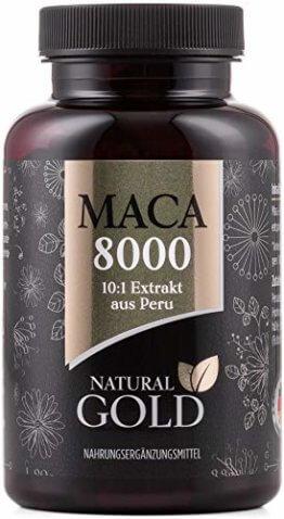 Original Maca Extrakt aus Peru - Maca 8000 - hochdosiert, vegan und ohne Magnesiumstearat - 10:1 Extrakt - 180 Maca Kapseln - 1